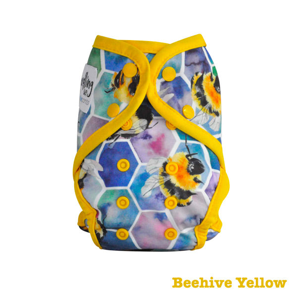 Seedling Baby Paddle Pants Reusable Swim Nappy - Beehive Yellow