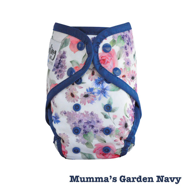 Seedling Baby Paddle Pants Reusable Swim Nappy - Mumma's Garden Navy
