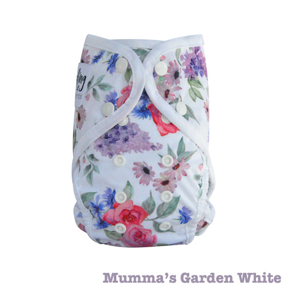 Seedling Baby Paddle Pants Reusable Swim Nappy - Mumma's Garden White