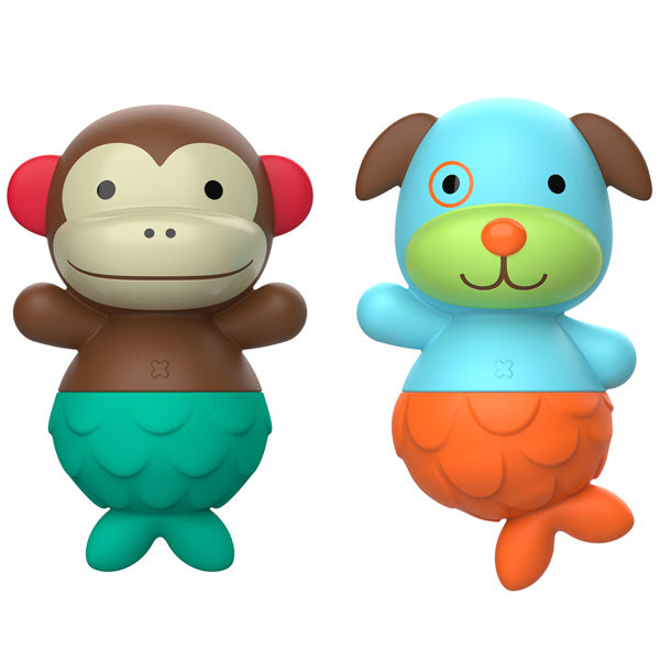 Skip Hop Zoo Mix & Match Flippers Bath Toy - Monkey / Dog