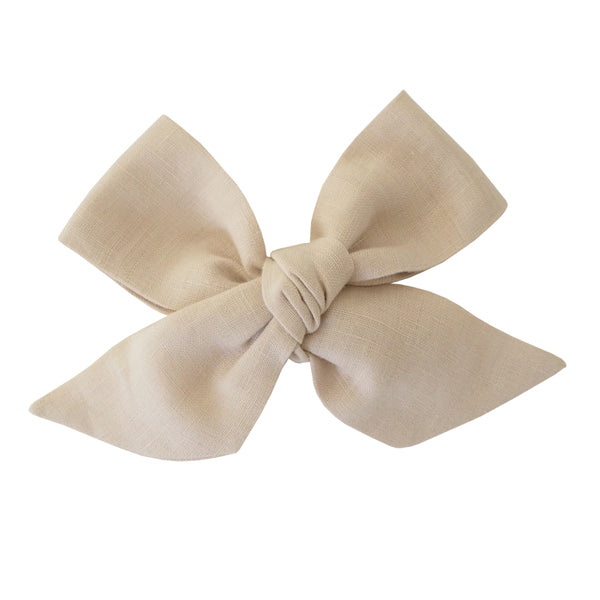 Snuggle Hunny Kids Linen Bow Pre-Tied Headband Wrap - Natural