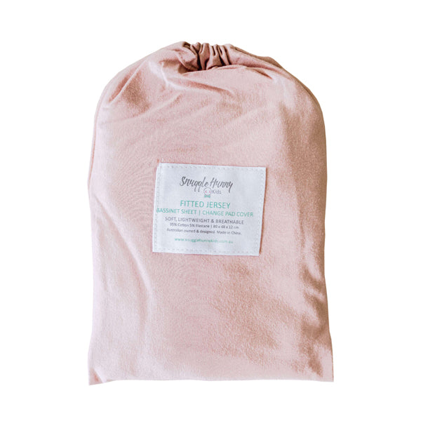 Snuggle Hunny Kids Fitted Bassinet Sheet and Change Pad Cover - Lullaby Pink