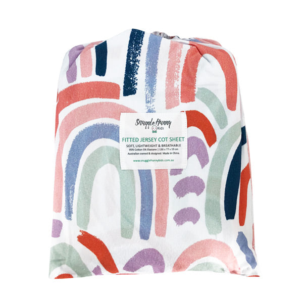 Snuggle Hunny Kids Fitted Cot Sheet - Rainbow Baby