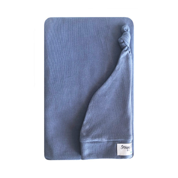 Snuggle Hunny Kids Jersey Wrap with Matching Headwear - Indigo