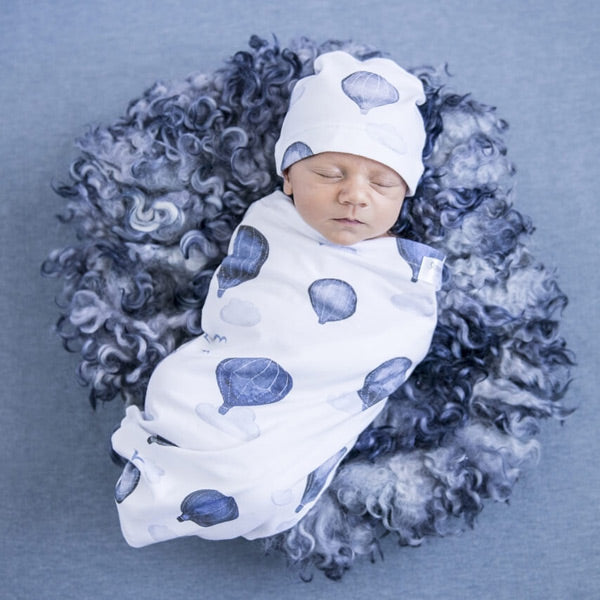 Snuggle Hunny Kids Snuggle Swaddle Sack with Matching Headwear - Cloud Chaser
