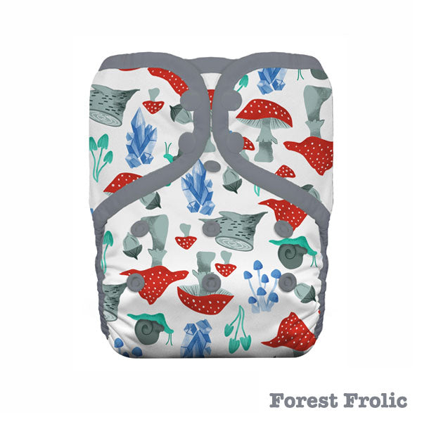 Thirsties Pocket One Size Cloth Nappy - Snap - Forest Frolic
