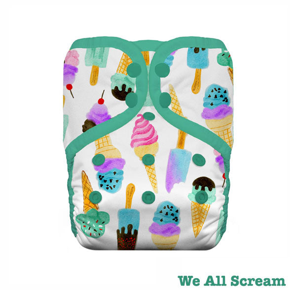 Thirsties Pocket One Size Cloth Nappy - Snap - We All Scream