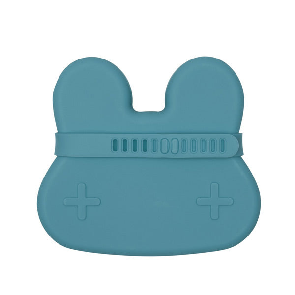 We Might Be Tiny Snackie Silicone Bowl + Plate - Bunny - Blue Dusk