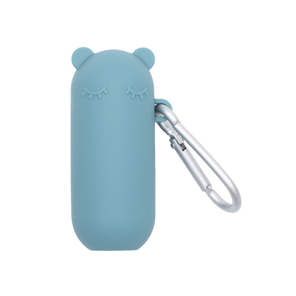 We Might Be Tiny Silicone Keepie + Straw Set - Blue Dusk