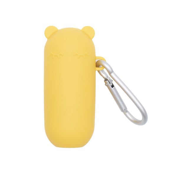 We Might Be Tiny Silicone Keepie + Straw Set - Yellow