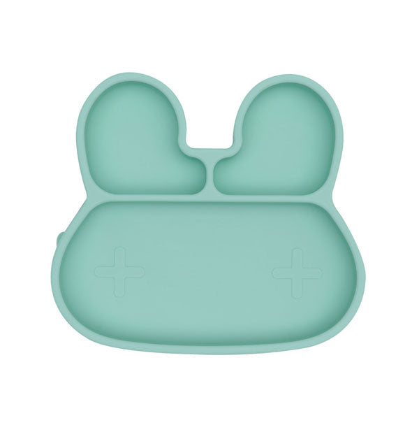 We Might Be Tiny Stickie Silicone Suction Plate - Bunny - Mint