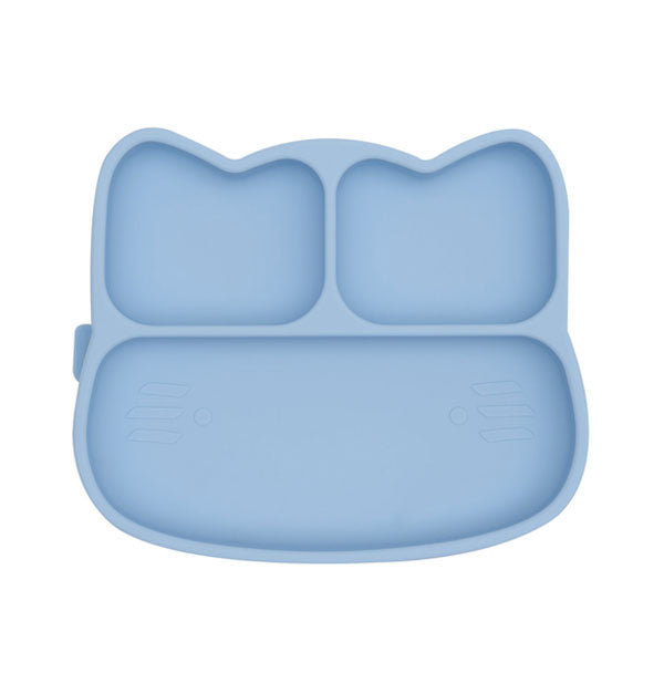 We Might Be Tiny Stickie Silicone Suction Plate - Cat - Powder Blue