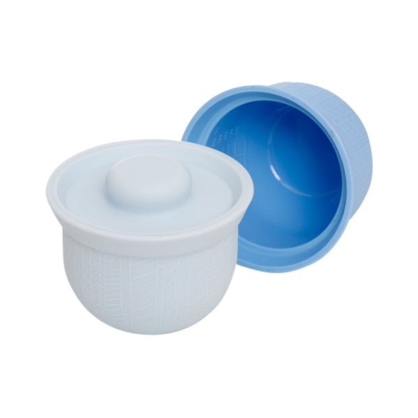 Wean Meister Silicone AdoraBowls - Grey, Baby Blue