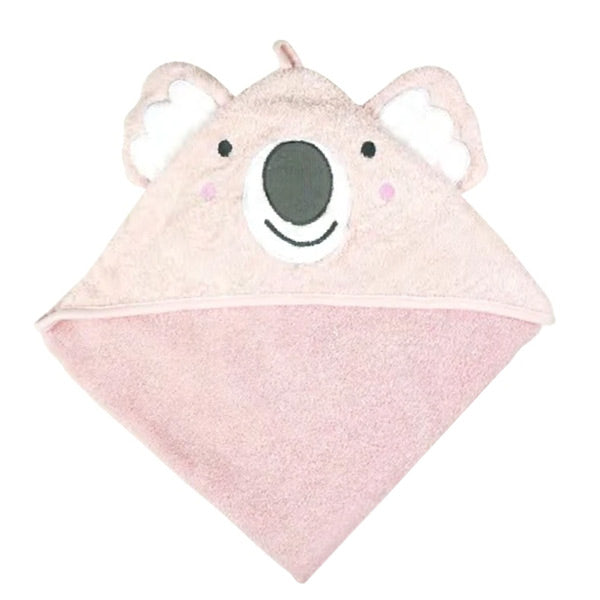 Weegoamigo Colourplay Hooded Towel - Pink Koala