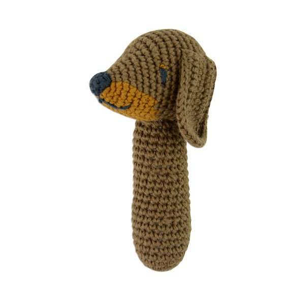 Weegoamigo Crochet Rattle - Snags Sausage Dog