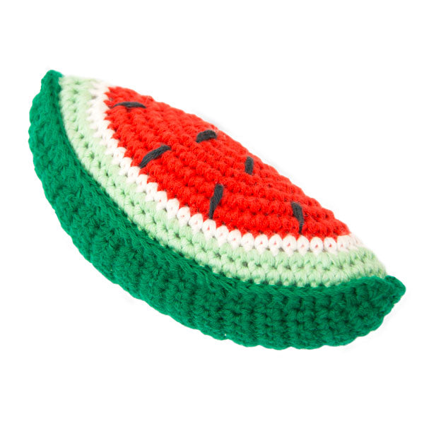 Weegoamigo Crochet Rattle - Watermelon