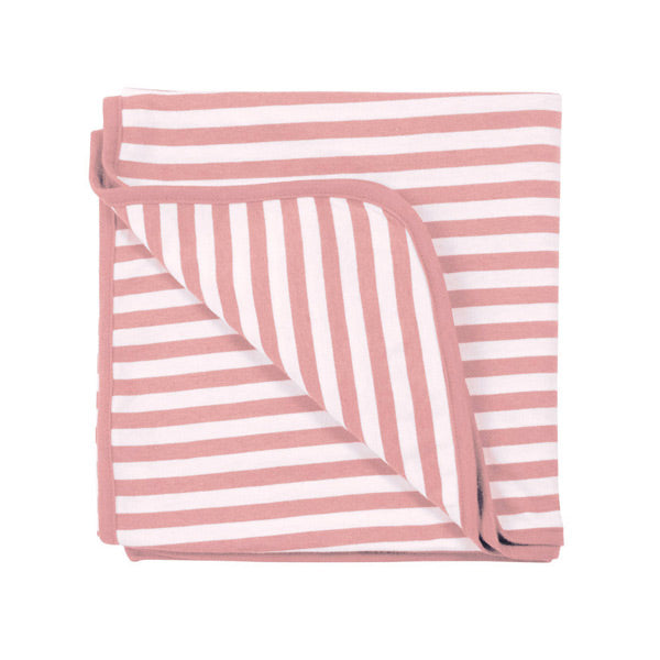 Woolbabe Merino and Organic Cotton Swaddle Blanket - Dusk Stripe