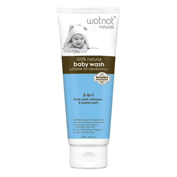 Wotnot 3-in 1 Baby Wash, Shampoo and Bubble Bath