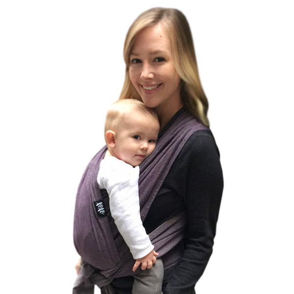 XOXO Bucklewrap Baby Carrier - Eco2Cotton - Eggplant