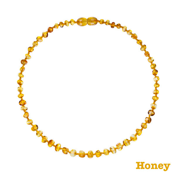 Bambeado Baltic Amber Baby Bud Necklace