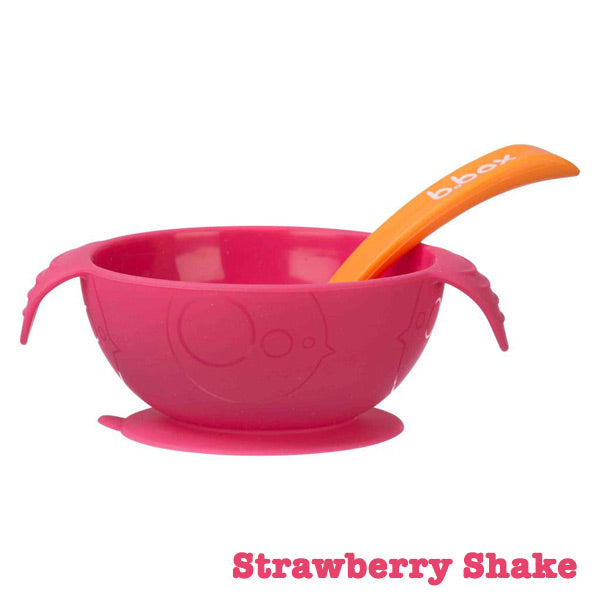b.box Silicone First Feeding Set - Strawberry Shake