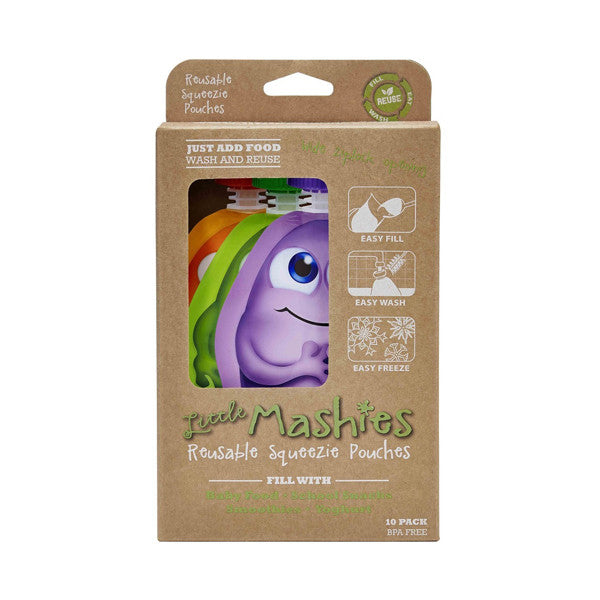 Little Mashies Reusable Squeeze Pouch - 10 pack
