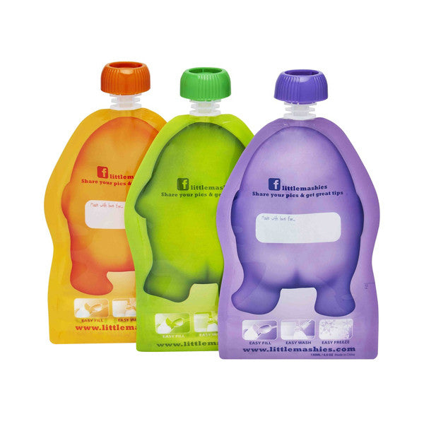 Little Mashies Reusable Squeeze Pouch - 2 pack