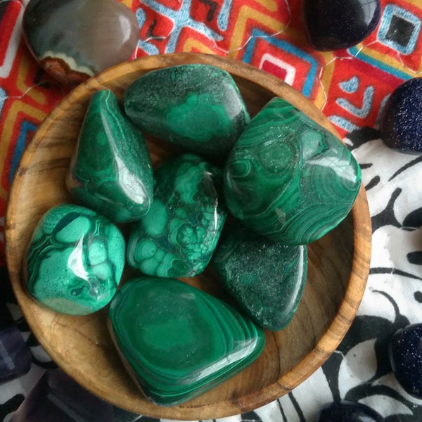tumbled malachite , large tumbled malachite, loose malachite