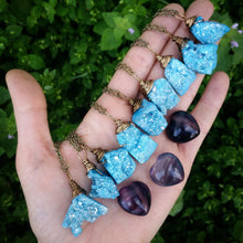 FLASH SALE- abstract aqua aura druzy necklace, aqua aura, rainbow aura, aqua aura crystal necklace