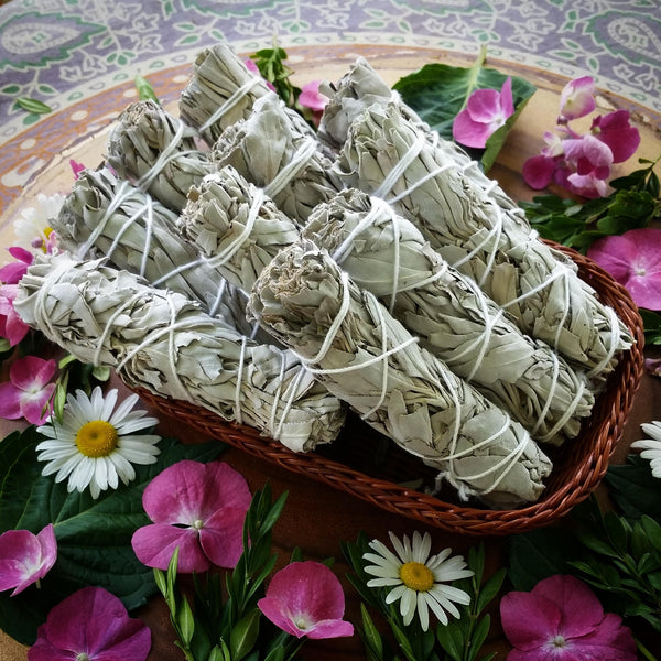 white sage stick, smudge stick, sage stick, sage for smudging, crystal cleanser, sage, white sage