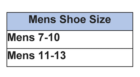 Mens Sock sizing chart