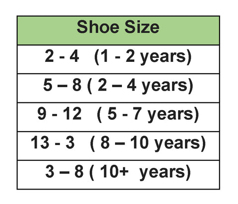 compression Sock sizing chart