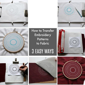 How to Transfer a PDF Embroidery Pattern Onto Fabric