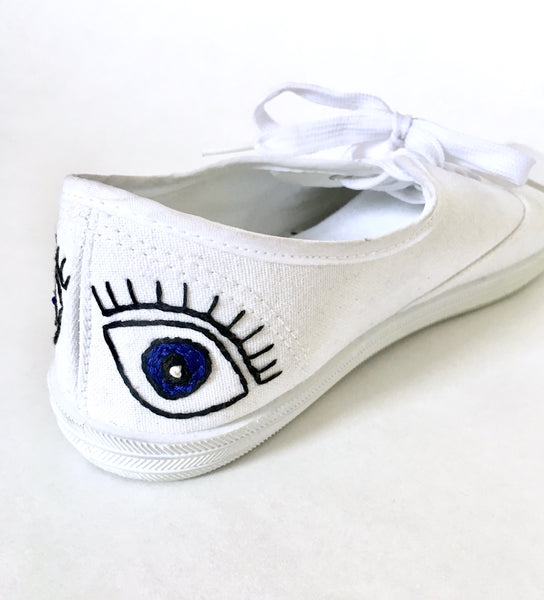 diy embroidery on canvas shoes free pattern