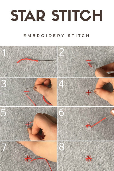 embroidery star stitch how to