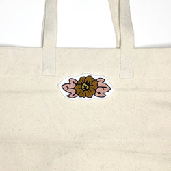 Floral Iron-On Pink Patch Chainstitch Embroidery