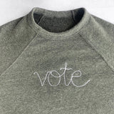 Personalized Chain Stitch Sweatshirt with Large Front Lettering
