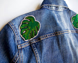 Monstera Leaf Chainstitch Embroidery Iron-On Patch