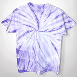 Pastel Purple Tie Dye Custom Embroidered Shirt