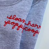 Kids Personalized Chainstitch Sweatshirt