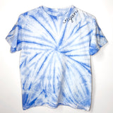 Blue Tie Dye Embroidered Kids Shirt