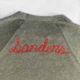 Personalized Chain Stitch Sweatshirt with Large Back Lettering