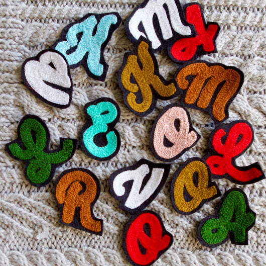 Mini Letter Iron On Patch