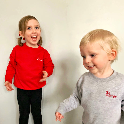 Personalized Toddler Chainstitch Sweatshirt