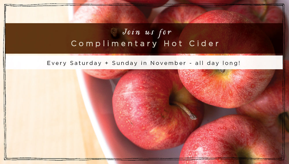 Complimentary Hot Cider