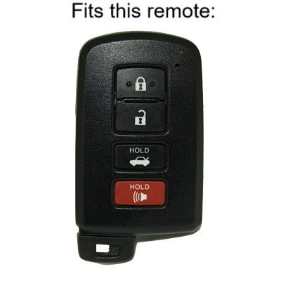 Premium Smart Key Cover for Toyota Avalon Camry Corolla Highlander RAV4 Remote 4-button MQDTOY001 - smartkeycover.com