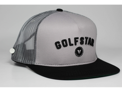 Golfstar Snapback Trucker Golf Hat - Black