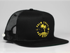Palm Trees Snapback Trucker Hat - Black