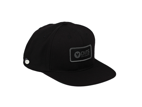 Porro Snapback Golf Hat - Black