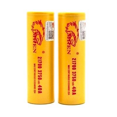 Imren 21700 (3750mah) 40A High Drain Rechargeable Battery  (2 pack)